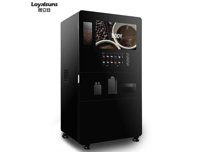 Freshly ground coffee machine
